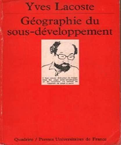 9782130425953: Géographie du sous-développement