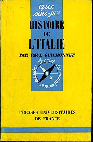 Histoire de l'Italie - Paul Guichonnet