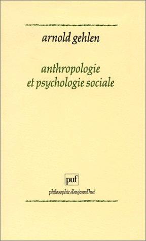 9782130427827: Anthropologie et psychologie sociale