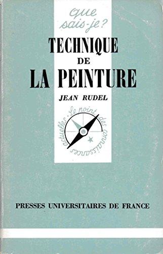 Technique de la peinture: Rudel, Jean
