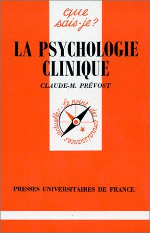 La psychologie clinique: n/a