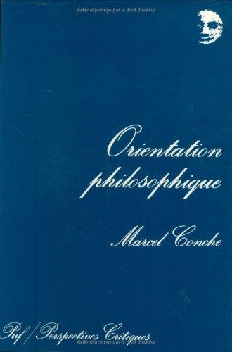 9782130433057: Orientation philosophique (Perspectives critiques) (French Edition)