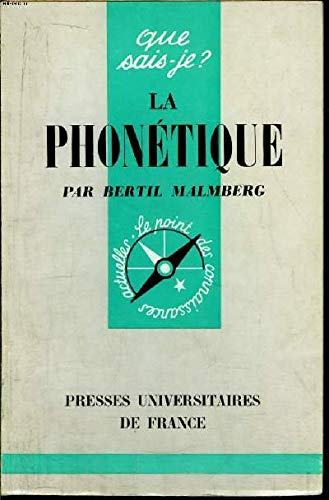LA PHONETIQUE: MALMBERG Bertil:
