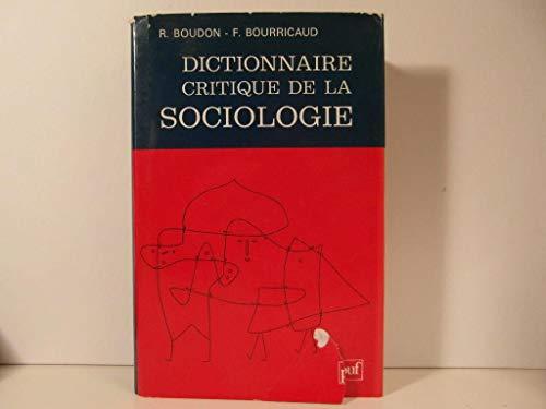 9782130433989: Dictionnaire critique de la sociologie