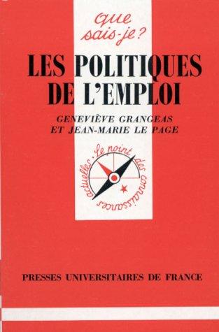 9782130443650: Les Politiques de l'emploi