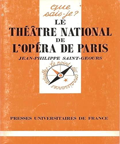 9782130444978: Le Théâtre national de l'Opéra de Paris