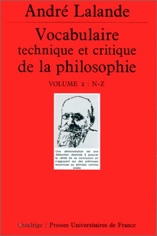 9782130445128: Vocabulaire technique et critique de la philosophie, coffret de 2 volumes