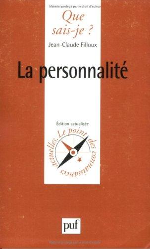 9782130455110: La Personnalité