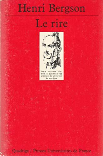Le Rire (Quadrige): Henri Bergson