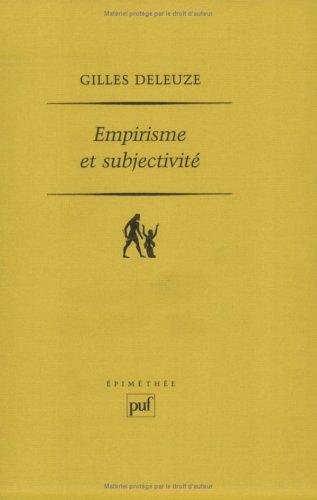 Empirisme et subjectivité (Epimethee): Deleuze, Gilles: