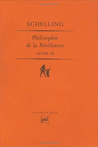 9782130457220: Philosophie de la r�v�lation, tome III