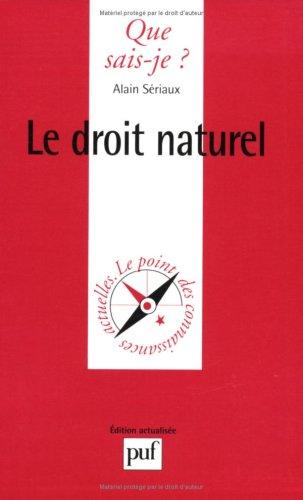 9782130458425: Le droit naturel
