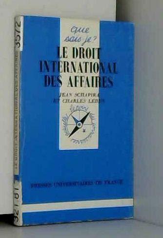 9782130460541: Le Droit international des affaires