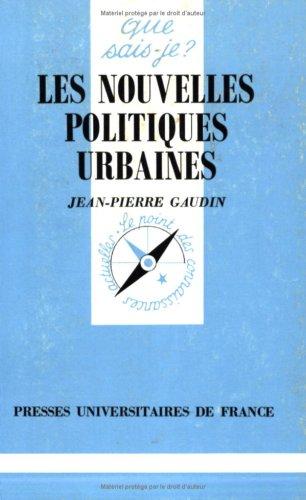 9782130460930: Les Nouvelles Politiques urbaines