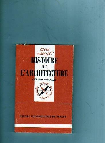 9782130462644: Histoire de l'architecture. : 2ème édition