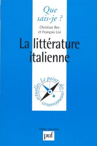 9782130463931: La littérature italienne
