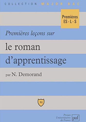 9782130472353: Premi�res le�ons sur le roman d'apprentissage