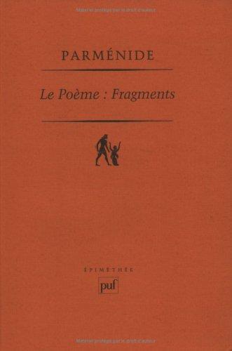 9782130476450: Le poème: Fragments (Epiméthée) (French Edition)