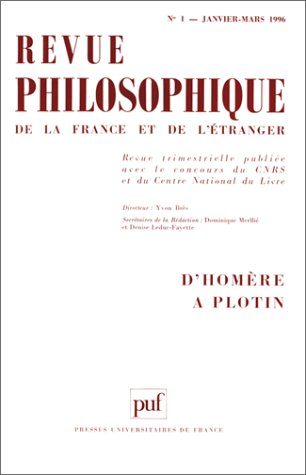 9782130476726: Rev.philosophique 1996 n.1 t.121 (French Edition)