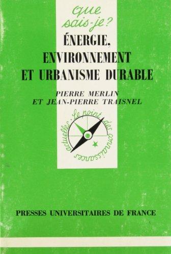 9782130477204: Énergie, environnement et urbanisme durable