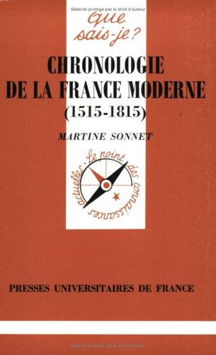 9782130479352: 1515-1815 Chronologie de la France moderne