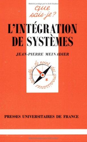 9782130479376: L'Intégration de systèmes