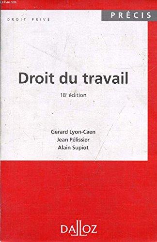 9782130481379: DROIT DU TRAVAIL. Tome 1, Les relations individuelles de travail, 3ème édition