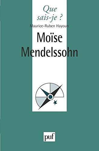 9782130483571: Moïse Mendelssohn (Que sais-je?) (French Edition)