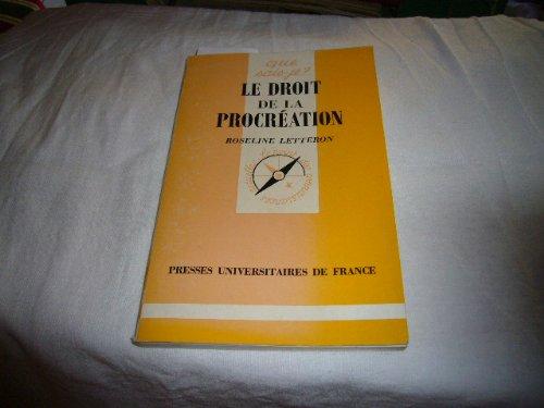 9782130485551: Le droit de la procréation