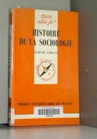 9782130485582: Histoire deLa sociologie