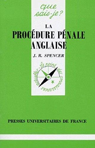 9782130485599: Procedure pénale anglaise (la)
