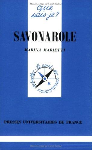 9782130486435: Savonarole (Que sais-je ?)