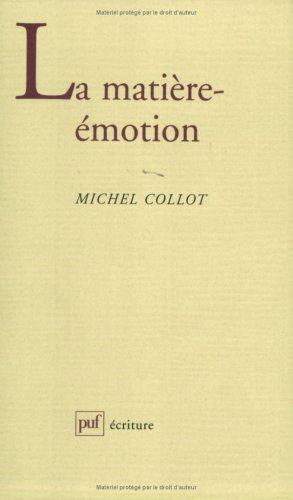 9782130486503: La matière-émotion