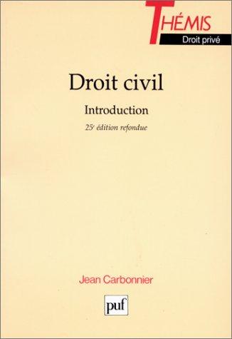 9782130487463: Droit civil : Introduction