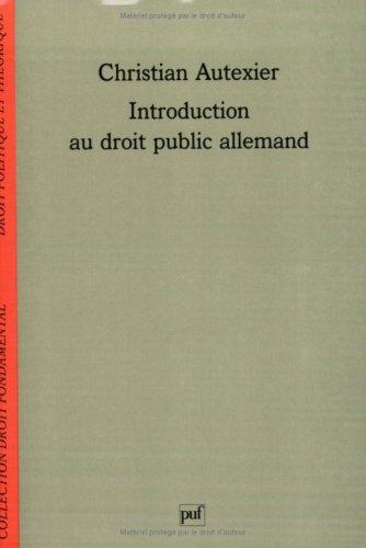 9782130488439: Introduction au droit public allemand