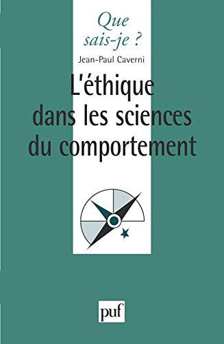 9782130489658: L'Ethique dans les sciences du comportement