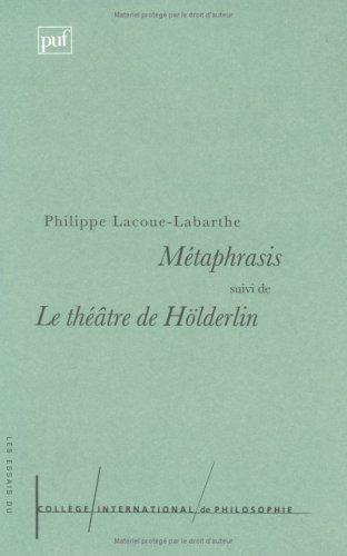 9782130493365: M�taphrasis. suivi de Le th��tre de H�rdelin
