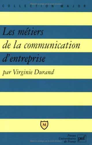 9782130494522: Metiers de la communication d'entrep
