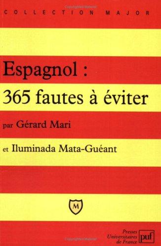 9782130495901: Espagnol, 365 fautes � �viter (Major bac)