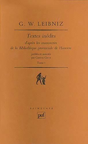 Textes inédits: D'après les manuscrits de la Bibliothèque provinciale de ...