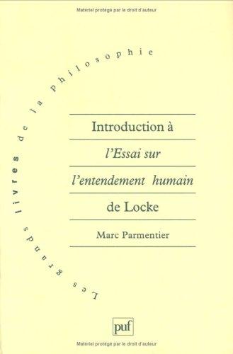 9782130496090: Introduction à l'Essai sur l'entendement humain de Locke (Les grands livres de la philosophie) (French Edition)