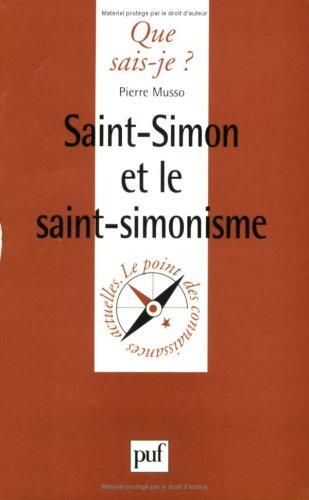 9782130498407: Saint Simon et le Saint-Simonisme
