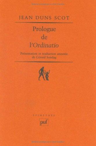 9782130500131: Prologue de l'«Ordinatio» (Epiméthée)