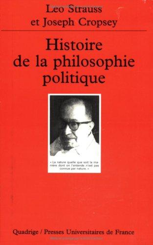 Histoire de la philosophie politique (2130500285) by Strauss, Léo; Cropsey, Joseph; Quadrige; Sedeyn, Olivier