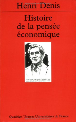 9782130501718: Histoire de la pensée économique