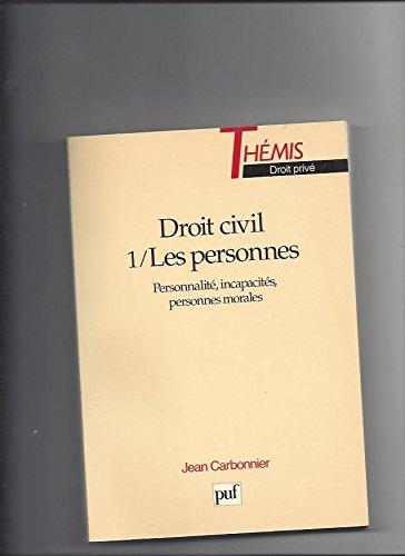 9782130505273: Droit civil, tome 1 : Les Personnes