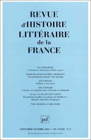 Revue d'histoire litteraire de la France 5/2000 (French Edition) (2130507689) by Guy Demerson