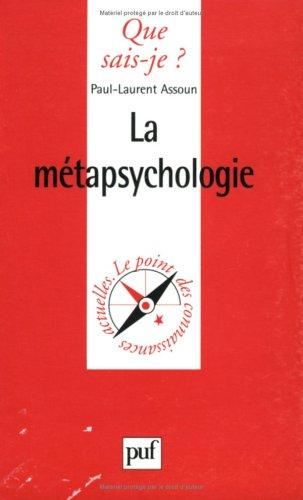 9782130509431: La Métapsychologie
