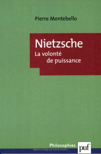 9782130510383: Nietzsche : La volonté de puissance