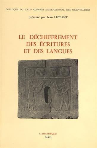 Dechiffrement écritures & langues